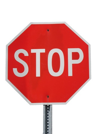 22859325 - stop sign isolated on white
